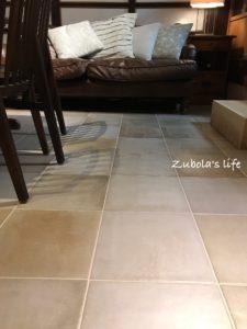 床もタイルにした理由。パッチワーク ニース 300 ¥2,980 / m2(税込)サンワカンパニー