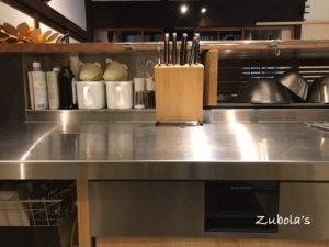 キッチンカウンターの高さは、ザルが隠れる高さで(使いやすいキッチンの考察 ~カウンター高さ編~)天板+30cm