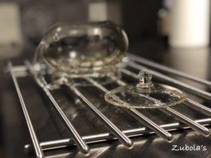 水切りスペースの背面は、ガラリ戸!やすいキッチンの考察 ~水切りスペース編~