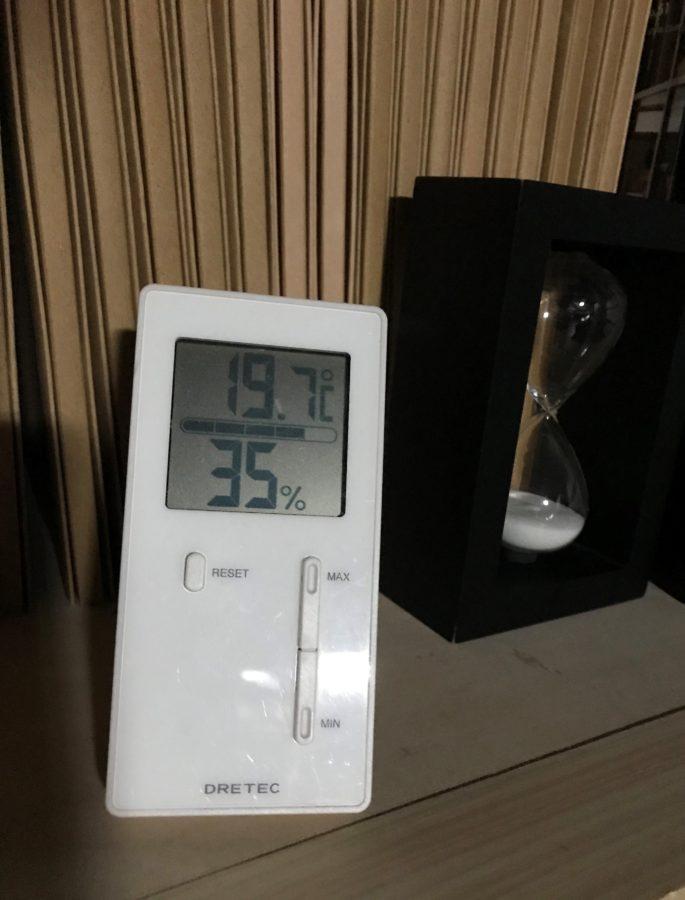 古民家の冬で1時間も暖房切っておけるなんてスゴイことです。