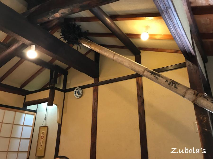 樫舎の天井