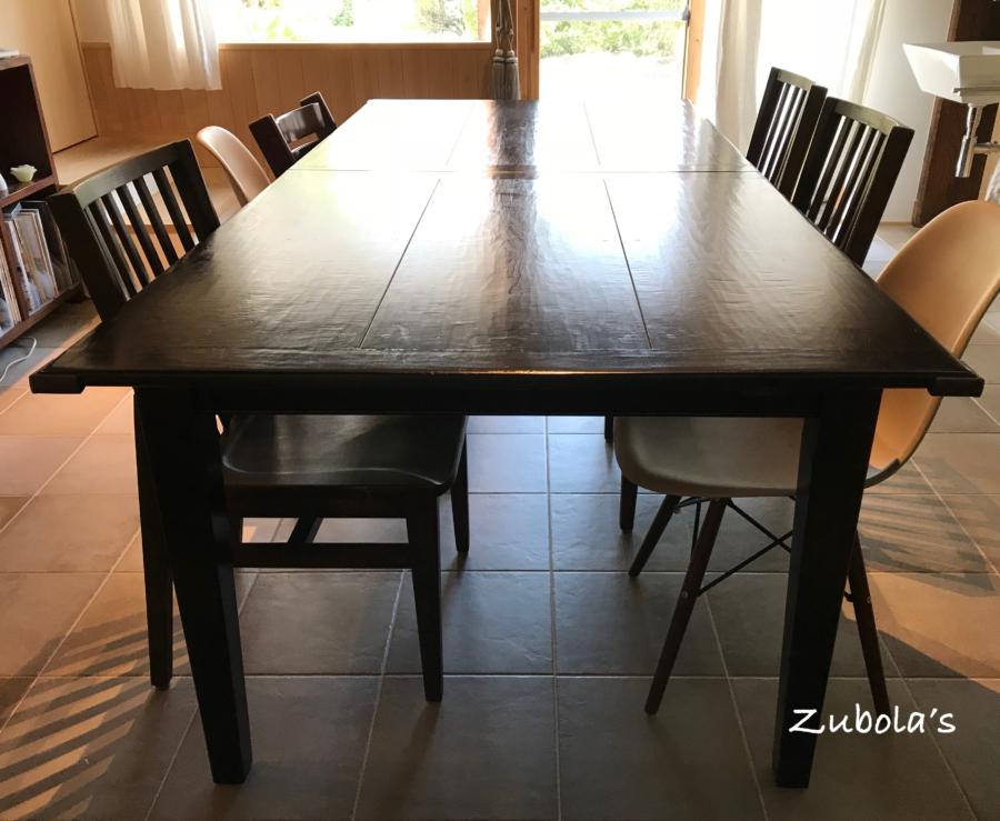 古材天板の4本足テーブル(Maison de famille)