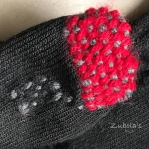 穴あきに朗報!何だか可愛いダーニングのスゝメ。毛糸を使って靴下の穴あき問題を解決!