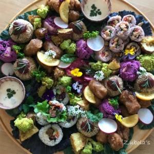 花畑のような一皿。ヴィーガンのケータリング!VIVA野菜!!